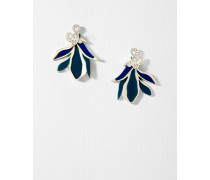 Paradiesblüten-Ohrringe mit Kristallen