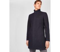 Mantel aus Wollgemisch mit Stehkragen