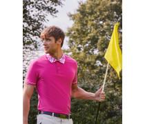 Golf-Polohemd mit Print Am Kragen