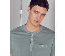 Henley-T-Shirt aus Baumwolle