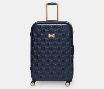 Großer Koffer mit Schleifenverzierung