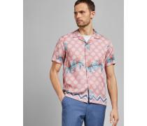 Kurzärmliges Baumwollhemd mit Print