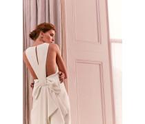 Schmales Kleid mit Wasserfall-Ausschnitt Hinten