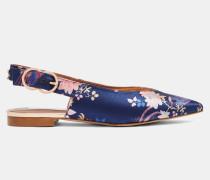 Flache Schuhe mit Chinoiserie Jacquard-Print