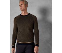 Tall Rundhals-Pullover mit Ottoman-Muster