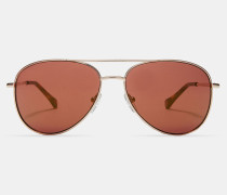 Piloten-Sonnenbrille in Metallic-Optik