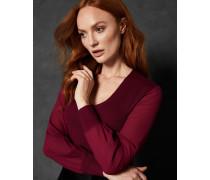 Pullover mit V-Ausschnitt und Transparenten ärmeln