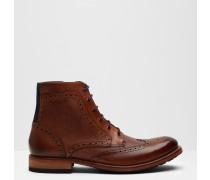 Ankle Boots aus Leder im Brogue-Stil