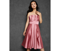 Plissiertes Kleid mit Weitem Rock