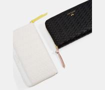 Bast-Reißverschluss Am Matinee-Portemonnaie