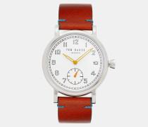 Uhr mit Bedrucktem Lederarmband