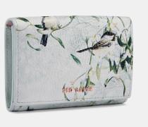 Mini-Lederportemonnaie mit Mistletoe Kiss-Print