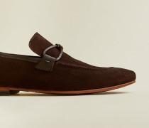 Loafers aus Veloursleder mit Quaste