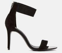 Stiletto-Sandalen mit Logo