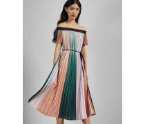 Kleid mit Falten in Blockfarben