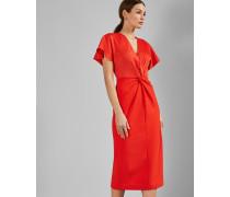 Bodycon-Kleid im Wickeldesign mit Weiten Ärmeln