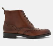 Brogue-Stiefel aus Poliertem Leder