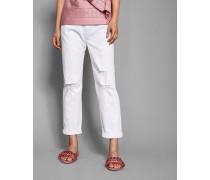 Gebleichte, Schmale Boyfriend-Jeans