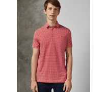 Baumwoll-Polohemd mit Geometrischem Print