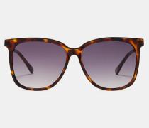 Eckige Sonnenbrille mit Metall-Details