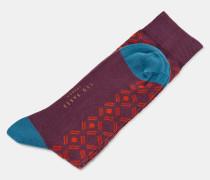 Baumwollsocken mit Punkte- und Rauten-Print