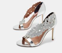 Verzierte Leder-Sandalen mit Cut-Outs