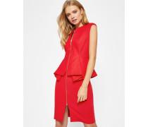 Strukturiertes Kleid mit Zip-Detail