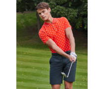 Golf-Polohemd mit Mini-Golfball-Print