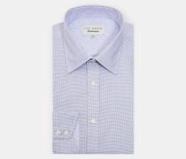 Baumwollhemd mit Mini-Karo-Print