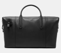 Große Leder-reisetasche Mit Webdetails