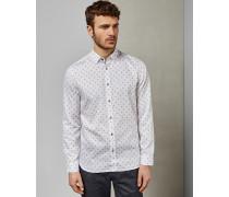Baumwollhemd mit Rauten-Print