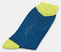 Socken aus Bio-Baumwoll-Mix mit Print