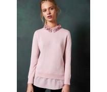 Pullover mit Blumenverziertem Kragen