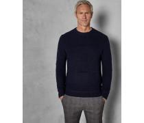 Tall Rundhals-Pullover aus Grobem Wollstrick