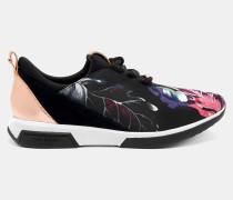 Bedruckte Sneakers Mit Wildlederborte