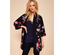 Kimono mit Vogel- und Blütenstickerei