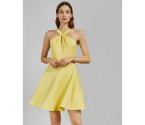 Skater-Kleid mit Verdrehtem Ausschnitt