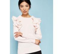 Pullover mit Gerüschter Schulter