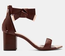 Hohe Sandalen aus Leder mit Blockabsatz
