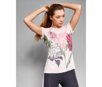 Tailliertes T-Shirt mit Palace Gardens-Print