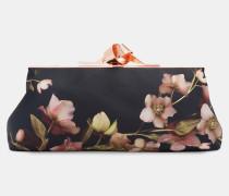 Abendtasche mit Schließe und Arboretum-Print