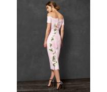 Harmony Bardot-Kleid mit Gewellter Bordüre
