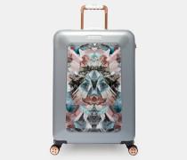 Mittelgroßer Koffer mit Mirrored Minerals-Print