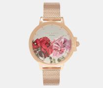 Uhr Mit Gliederarmband Und Palace Gardens-print