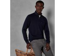 Pullover mit Stehkragen und Halbem Zipper