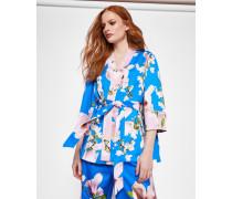 Plissierter Kimono Mit Harmony-print