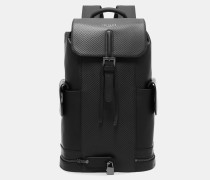 Strukturierter Leder-rucksack