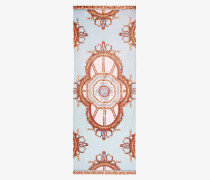 Langer Seiden-Schal mit Versailles-Print