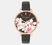 Uhr Mit Zifferblatt Mit Soft Blossom-print