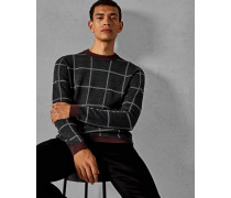 Karierter Woll-Pullover